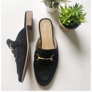 Topshop Black Kylie Backless Mule Shoes Loafer
